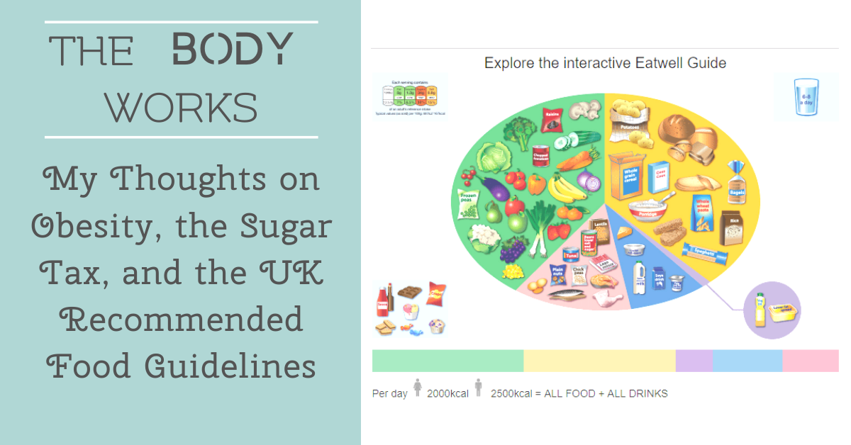 My Take on Obesity, the Sugar Tax, and the UK Recommended Food Guidelines